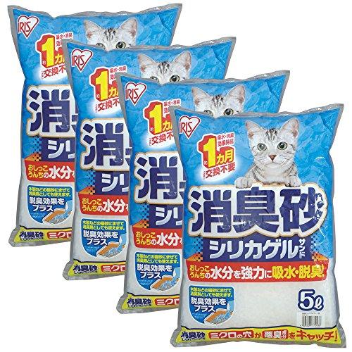 アイリスオーヤマ猫砂消臭砂シリカゲルサンド5L×4袋