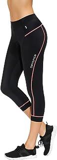 SKYSPER Women Biking Shorts, 3D Padded Breathable Compression Capri Pants Cycling Tights