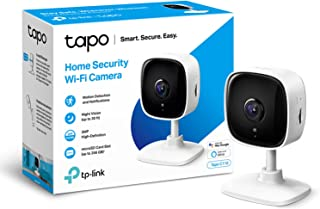 TP-Link Tapo Mini Smart Security Camera, Indoor CCTV, Works with Alexa&Google Home, No Hub Required, 3MP(2304 × 1296) High...