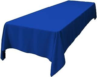 LA Linen Polyester Poplin Rectangular Tablecloth 60 by 144