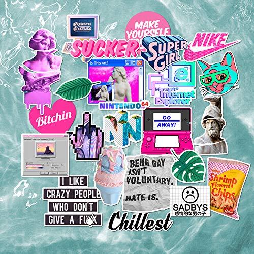 BLOUR Steam Wave Stickers Retro Trend merk Persoonlijkheid Parodie Kunst Tablet Computer Stickers Waterdichte kofferbak Stickers