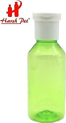 Harsh Pet Sanitizer/Shampoo/refillable fliptop Cap Round Bottle Set of 16(100ml) (Green)