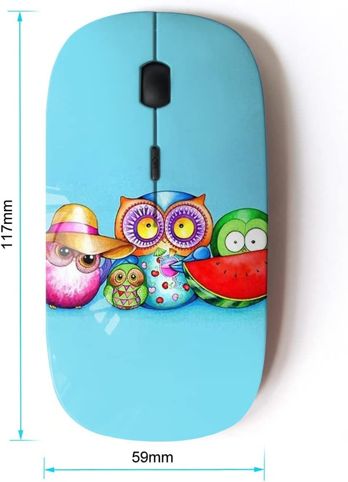 KOOLmouse [ Optical 2.4G Wireless Mouse ] [ Cute Colorful Owl Pattern ]