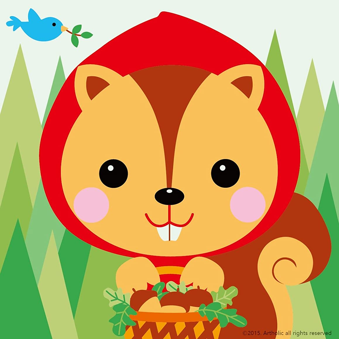 DIY Oil Painting, Paint by Numbers Kits for Kids - Little Squirrel 8