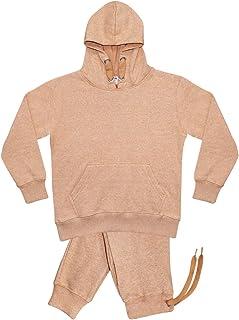 Leather Land Chándal para niños, sudadera con capucha y pantalones lisos, pantalones para correr, traje deportivo suave y ...