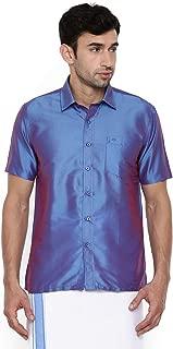 Chennis Blue Short Sleeve Regular Fit Shirt