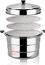 HJRD Hotel canteen steamer, extra large, stainless steel steamer, large capacity, three-layer multi-layer cauldron, cantee...