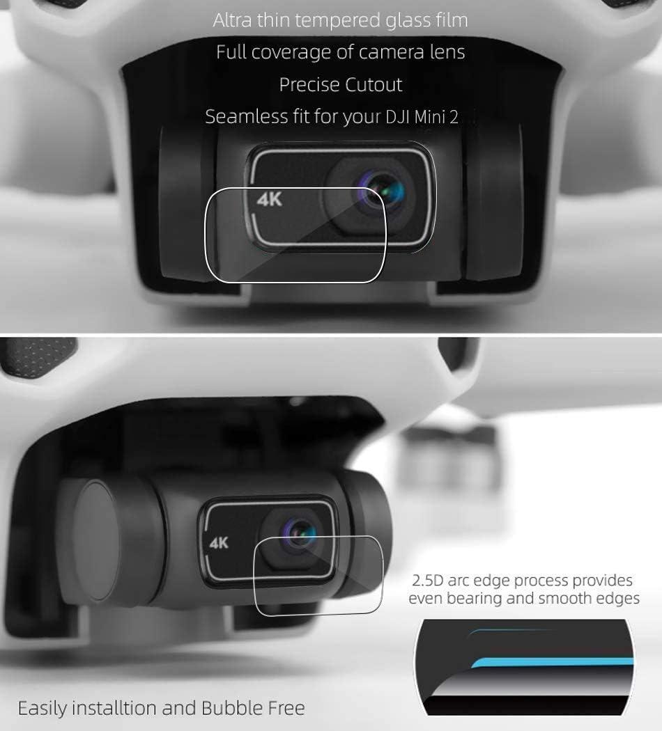 TUTUO 2-Pack Schutzfolie Displayschutzfolie f/ür DJI Mini 2 Drone,Panzerglas Geh/ärtetem Glas Displayschutz Folie Kameraobjektiv Schutz 9H geh/ärtetem Film Set Kompatibel mit Mavic Mini 2 Drone