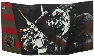 A Nightmare On Elm Street Freddy Krueger PU Faux Leather Men's Trifold Chain Wallet
