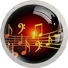 Mooie Muziek Clef Set van 4 Lade Knoppen Trekt Kast Handvat voor Thuis Keuken Garderobe Kast Home Decor Hardware Pull Knoppen