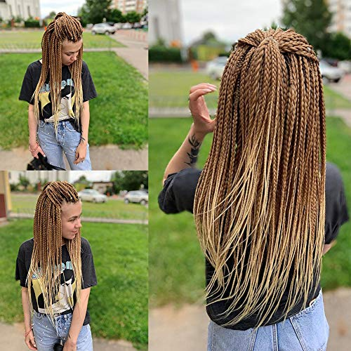 """Pre-stretched Braiding Hair 8packs/lot ShowCoco 26"""" Long blonde ombre braiding hair Itch Free Hot Water Setting Synthetic Fiber Crochet Braiding Hair Extension (#27/613)"""