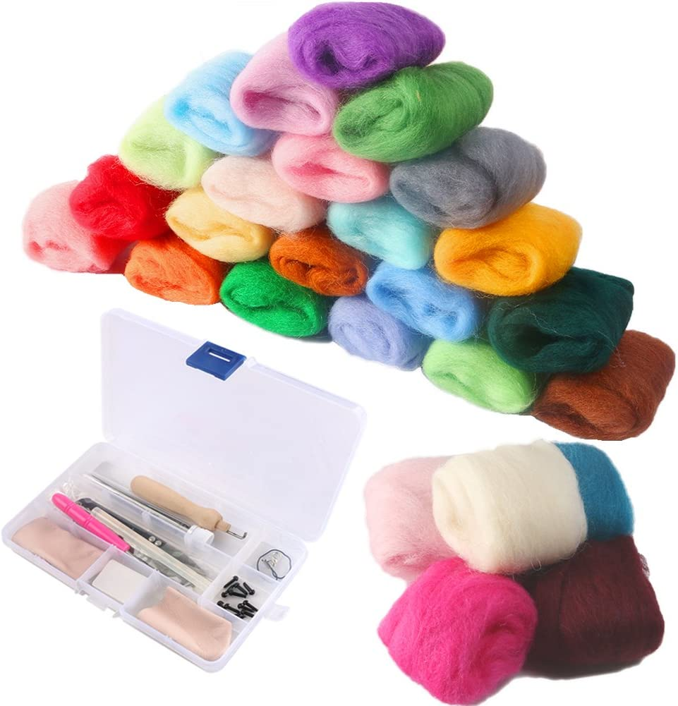 Petift 36 Colors Fibre Wool Cheap mail order specialty store Yarn Dealing full price reduction Roving Felting Woo Needle