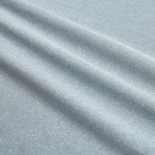 Kaufman Essex Yarn Dyed Linen Blend Chambray Blue, Fabric by the Yard