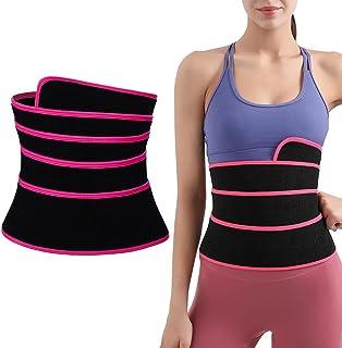 HHHJ Midja tränare bälte tjockare wrap tränare tejp kvinnor bantning mage wrap bälte justerbar midja trimmer shaper bälte ...