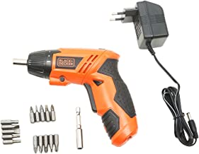 BLACK+DECKER KC4815 Screwdriver Set (Orange, 15-Pieces)