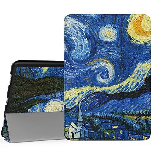 MoKo ASUS ZenPad 3S 10 Hülle - Ultra Slim Lightweight Schutzhülle Smart Cover Standfunktion für ASUS ZenPad 3S 10 9.7 Zoll Z500M 2016 Modell (Nicht kompatibel mit Z500KL) Tablet-PC, Sterne Nacht