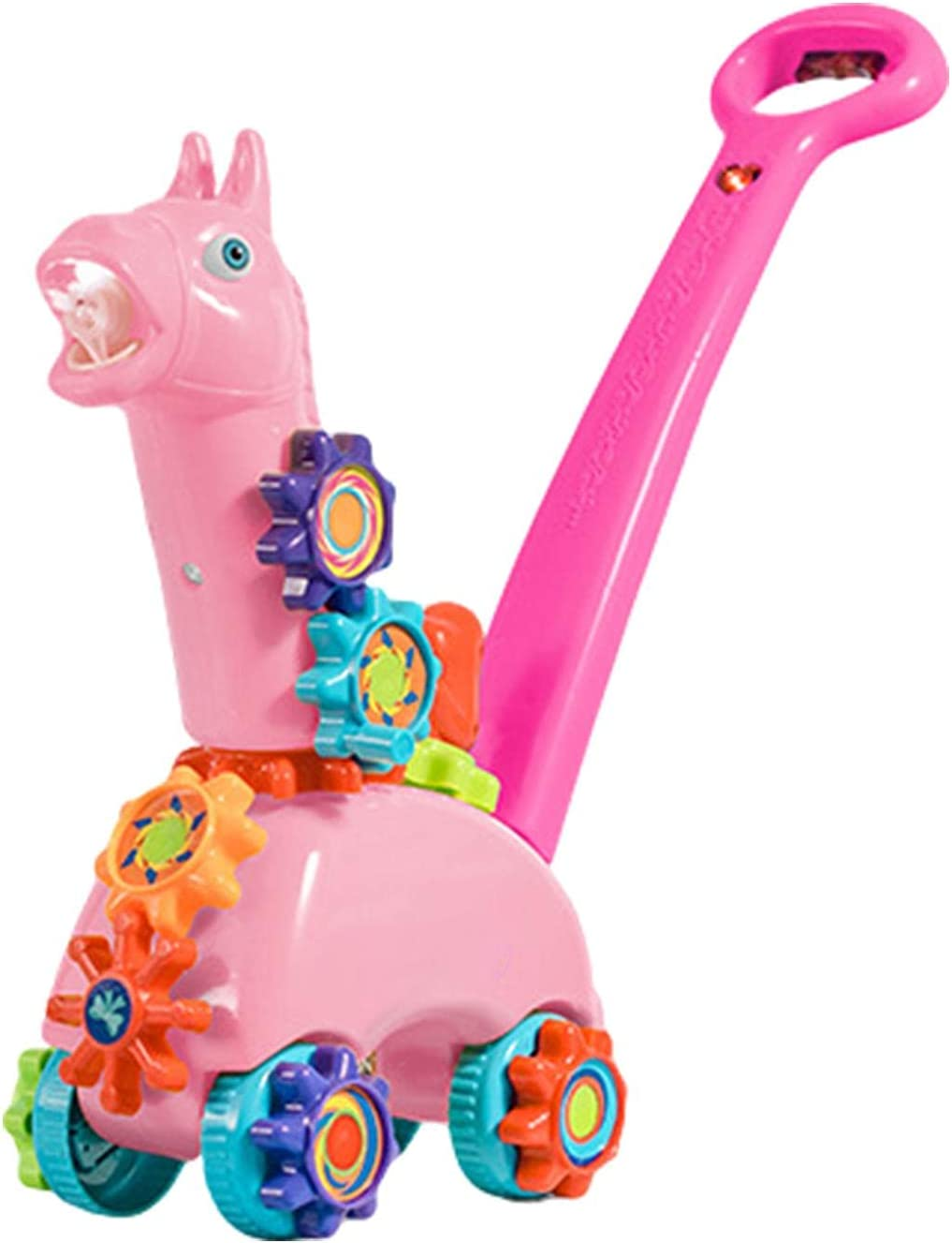 Trolley Children's Giraffe Electric Bubble Machine, Automatic Bu