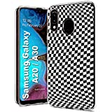 MOBIFLARE Slim Case for Samsung Galaxy A20 / A30, Not for Galaxy A10E A50, Checkers Design Light Weight, Unbreakable, Flexible, Surround Edge Protection