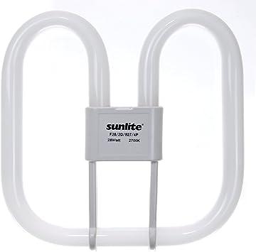 3500K Sunlite F28//2D//835//4P 28-Watt 2D Linear Fluorescent Light Bulb GR10q Base