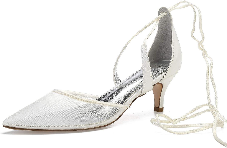 Elobaby Frauen Hochzeit TB-326 Spitze Spitze Spitze Spitze Geschlossene Zehe Flat Dance Silk Fashion Faux Elfenbein  cc1772