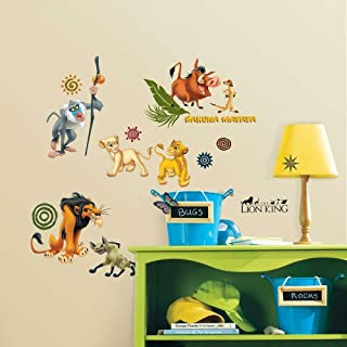 RoomMates The Lion King Peel and Stick Wall Decals - RMK1921SCS,Multi