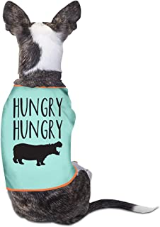RSADGER Sky Blue Pet Clothing Hungry Hippo Printed T Shirts Dogs Summer Vest Puppy Pet Shirt