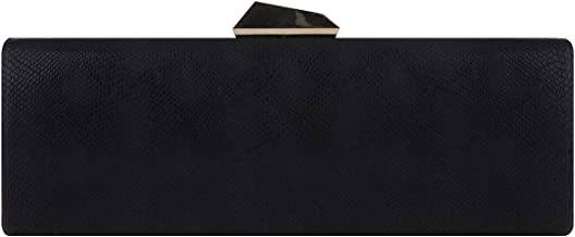 Fawziya Baguette Purse Bling Snakeskin Clutch Evening Bags
