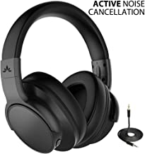 Avantree New ANC031 Active Noise Cancelling Wireless Headphones for Airplane Travel Mowing, Bluetooth Wired ANC Sound Cancelling Over Ear Headphones with Mic, Fast Stream Hi-Fi Headset for TV PC Phone