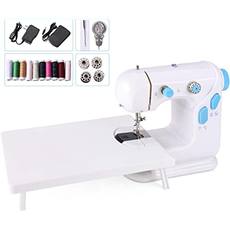 Heartybay 0201 Handheld Sewing Machine Portable Electric Crafting Mending Machine Adjustable 2-Speed with for Household /& Beginner