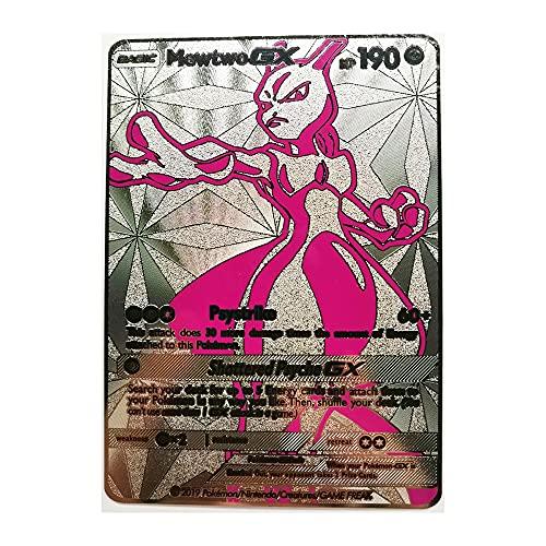 Tarjeta De Pokémon De Metal Recoger Cartas Coleccionables del Juego Adecuado para Niños Mayores De 8 Años. (Color : D)