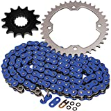 Caltric O-Ring Blue Drive Chain & Sprockets Kit Compatible With Yamaha Raptor 700R Yfm700R...