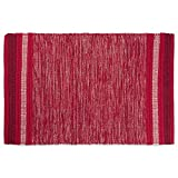 DII VARIEGATED RECYCLED YARN 2x3 FT Rug, Red Varigated