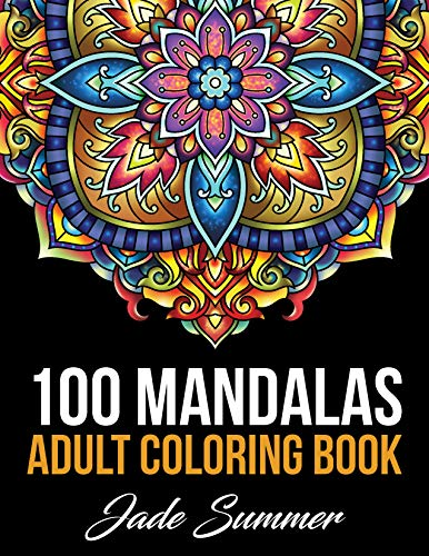 Mandala Coloring Book: 100 Magical Mandalas   An Adult Coloring Book with Fun, Easy, and Relaxing Mandalas