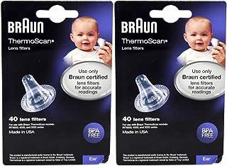 Braun Filtros de lente Thermoscan 80 ct