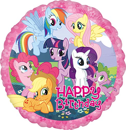 amscan 2708001 Folienballon Happy Birthday, Mehrfarbig