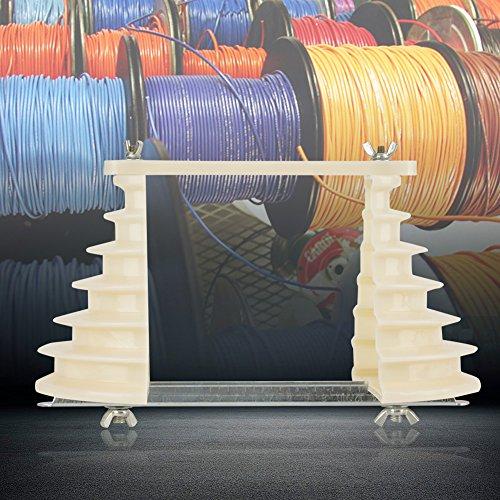 Molde de bobinado de alambre de bobina de alta precisión, molde de bobinado beige beige, plástico ajustable para reparación de motores