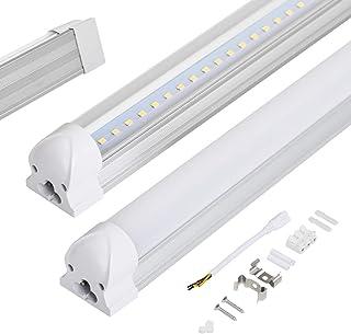 Allesin T8 Tube LED Fluorescent, Néno Lumière, LED Réglette 60cm, 10W Blanc Froid 6000k, 850lm Couverture Laiteuse, Lampe ...