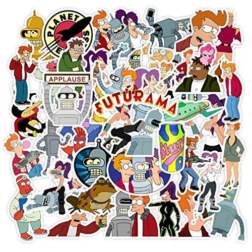 DUOYOU American Animation Mosca en un futuro graffiti impermeable monopatín viaje maleta teléfono portátil equipaje pegatinas lindo 50 piezas