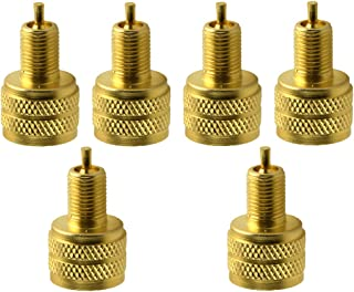 figatia Redutor externo de válvula de pneu com furo grande de 6 peças