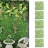JIAYOUMIhome 5 piezas decoración de pared artificial planta simulación césped simulación césped decoración interior y exterior decoración de fondo