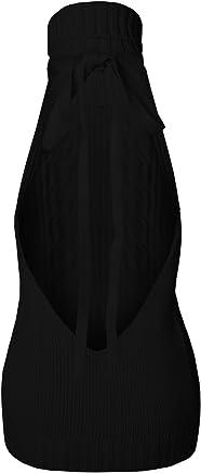 7e74222c30 Lovaru Women s Fashion Sexy Turtle-Neck Tied Pullover Jumper Sweater  Backless