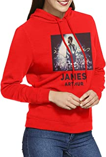 Women Hoodie Classic James Arthur Adult Pullover Red S