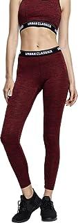 Urban Classics Women's Ladies Active Melange Logo Leggings Sports Pants