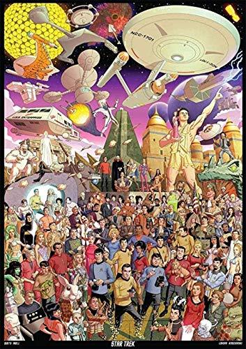 Rompecabezas creativo 1.000 piezas de rompecabezas de rompecabezas de madera juego de puzzle for adultos juguetes interesantes Mejorar la relación padre-hijo juguetes educativos - Star Trek animado Ro