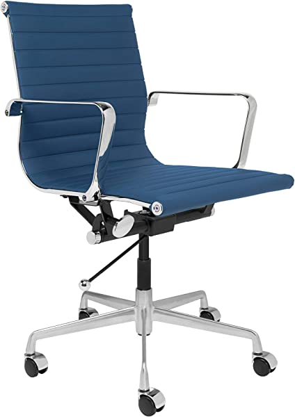 SOHO Ribbed Management Office Chair Blue