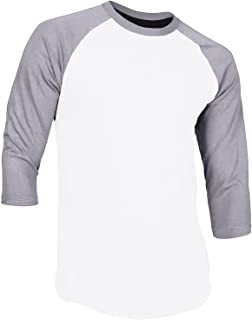 Men's Casual 3/4 Sleeve Baseball Tshirt Raglan Jersey Shirt