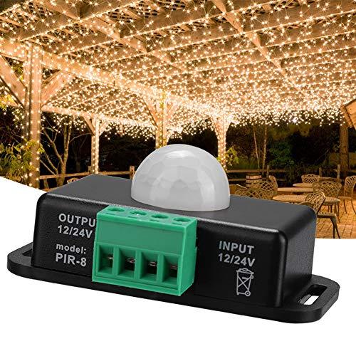 Kadimendium Interruptor de Sensor de Movimiento, Interruptor de Sensor de Sensor de Infrarrojos Interruptor de Sensor de Cuerpo Humano Ligero para Tira de luz LED para el hogar