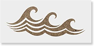 Waves Stencil Template for Walls and Crafts - Reusable Stencils for Painting in Small & Large Sizes
