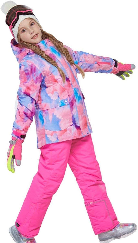 Tree-on-Life Charm Jungen Mdchen Winter Snowboard Skifahren Parka Jacke Schneelatz Schneeanzug Set Warmer Schneeanzug Kapuzen Skijacke + Hose 2er Set