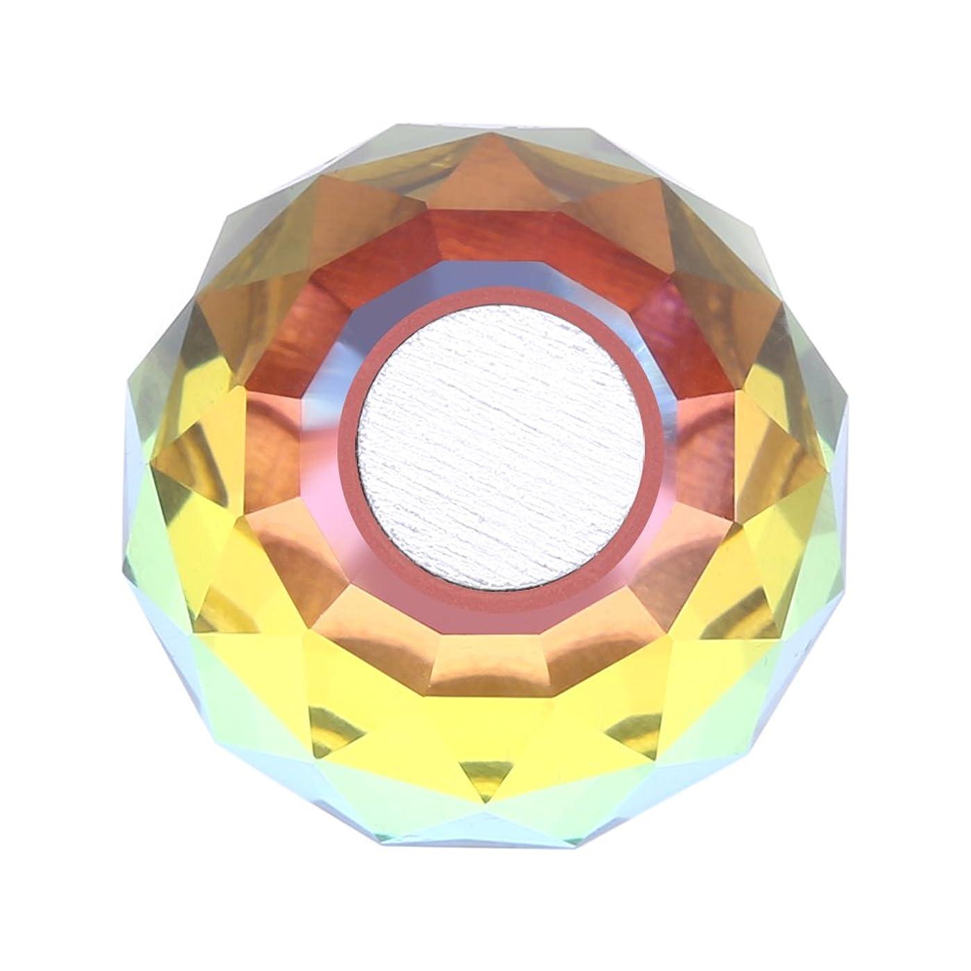 敵ミット動脈磁気ネイルチップスタンドホルダー サロンDIYと実践マニキュアのための合金ネイルアートディスプレイチップホルダー(1)